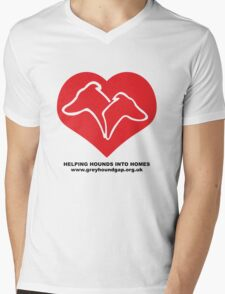 Hounds on Heart Mens V-Neck T-Shirt