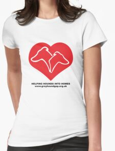 Hounds on Heart Womens Fitted T-Shirt