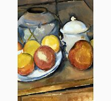 1893 - Paul Cezanne - Straw-Trimmed Vase, Sugar Bowl and Apples Unisex T-Shirt