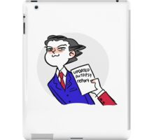 updated autopsy report iPad Case/Skin