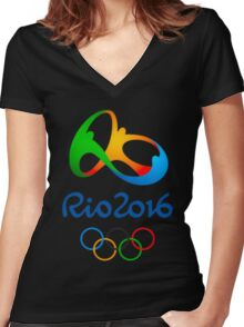 Rio 2016 Olympics Women's Fitted V-Neck T-Shirt