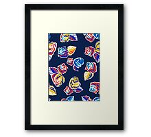 Bright Flowers Pattern Framed Print