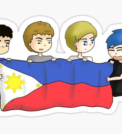 5SOS SLFL Manila -  Philippine Flag Sticker