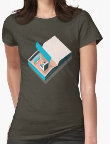 Open book Womens Fitted T-Shirt