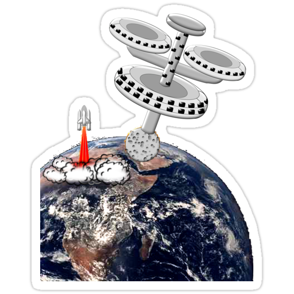Space Station Around the Earth T-shirt by Dennis Melling