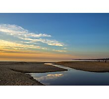 Where Balcome Estuary Enters Port Phillip Bay, Mt Martha Photographic Print