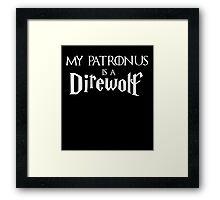 My Patronus is a Direwolf Framed Print