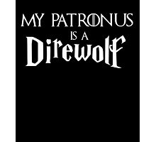 My Patronus is a Direwolf Photographic Print