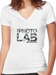 Photo Lab Collage Logo Women's Fitted V-Neck T-Shirt