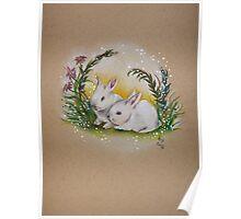 Ostara Spring Bunnies Poster