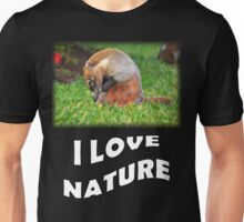 Badger - I love nature Unisex T-Shirt