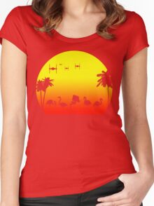 Star Wars Tropical SunsAT-ST Women's Fitted Scoop T-Shirt