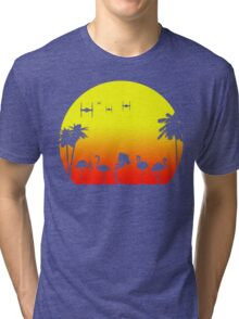 Star Wars Tropical SunsAT-ST Tri-blend T-Shirt