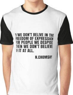 Noam Chomsky Quote Free Speech Freedom  Graphic T-Shirt