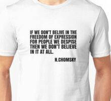 Noam Chomsky Quote Free Speech Freedom  Unisex T-Shirt