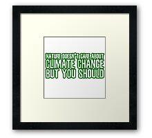 Nature Climate Change Global Warming Environmentalism Framed Print
