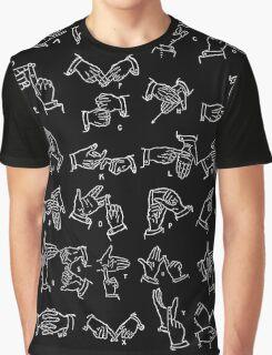 BSL alphabet Graphic T-Shirt