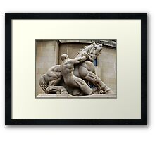 Man Controlling Trade Framed Print