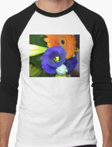 Fab Flowers Flaunting their Fantasticness Men's Baseball ¾ T-Shirt