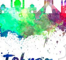 Tehran skyline in watercolor Sticker