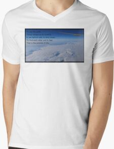 Walter Mitty Motto Mens V-Neck T-Shirt