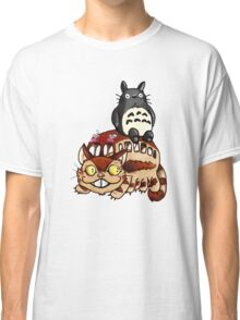 Catbus and Totoro - A Fun Ride Classic T-Shirt