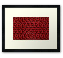 Red Cube Pattern Framed Print
