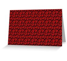 Red Cube Pattern Greeting Card