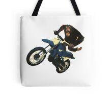Monkey on a Dirt Bike Tote Bag