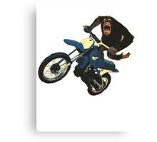Monkey on a Dirt Bike Canvas Print