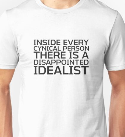 George Carlin Quote Smart Cynical Unisex T-Shirt