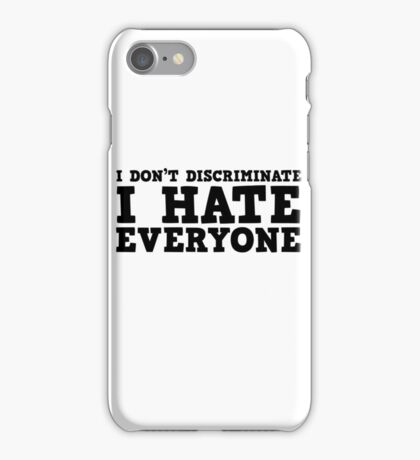 Funny Ironic Hate Free Speech Politics Humour iPhone Case/Skin