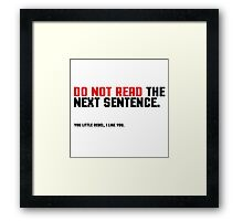 Funny Clever Joke Rebel Punk Cool Smart Framed Print