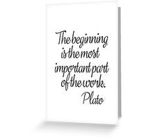Plato quote b Greeting Card