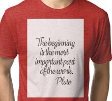 Plato quote b Tri-blend T-Shirt