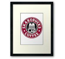 Skaro Coffee red Framed Print