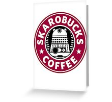 Skaro Coffee red Greeting Card