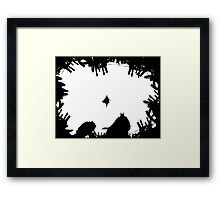 S vs B #2 white Framed Print