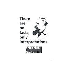 Friedrich Nietzsche quote Photographic Print