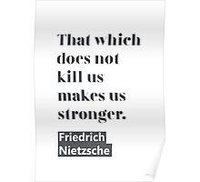 Friedrich Nietzsche quote C Poster