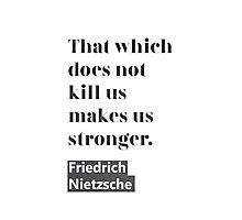 Friedrich Nietzsche quote C Photographic Print
