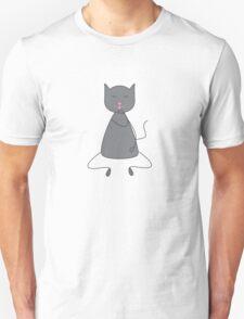 Cute grey colored cat Unisex T-Shirt