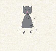 Cute grey colored cat Pullover