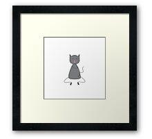 Cute grey colored cat Framed Print