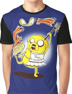 Jake Adventure Time Bacon Graphic T-Shirt