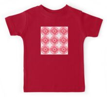 red ethnic pattern Kids Tee