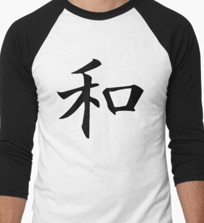 KANJI : HARMONY Men's Baseball ¾ T-Shirt