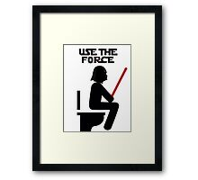 Use the Force - constipated Framed Print
