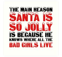 Santa Claus George Carlin Quote Funny Humour Comedy Christmas Art Print