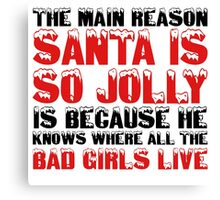 Santa Claus George Carlin Quote Funny Humour Comedy Christmas Canvas Print